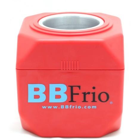 BBFrio de color rojo, totalmente autónomo y facil de llevar por su pequeño tamaño.