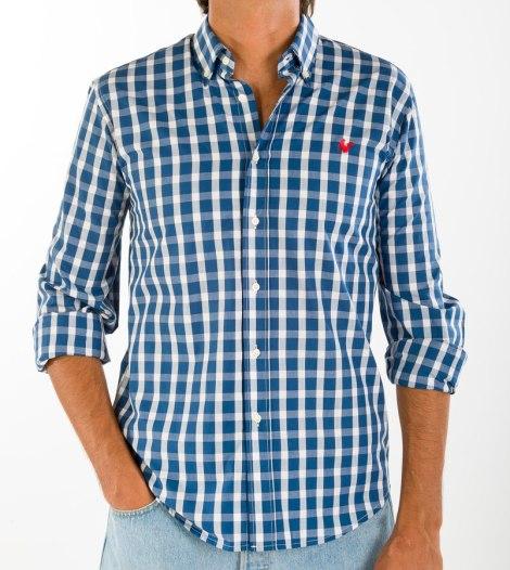 Camisa de cuadros, 100% algodón.