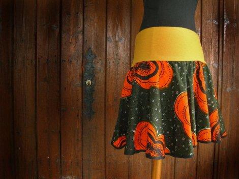 Falda con aires africanos en su diseño!!!!
