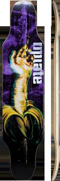 Longboard convertido en arte 100%