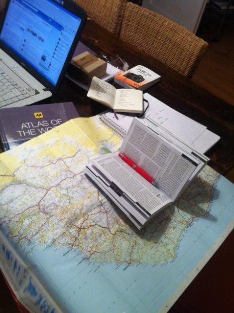 Comenzamos la Aventura!!!! Estudiando la ruta.