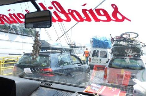 Llegada y desembarco de la furgo en Tanger!!!