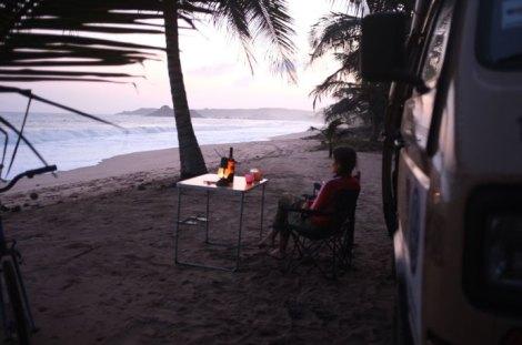 disfrutar del tiempo que nos queda en Africa , momentos de relax.