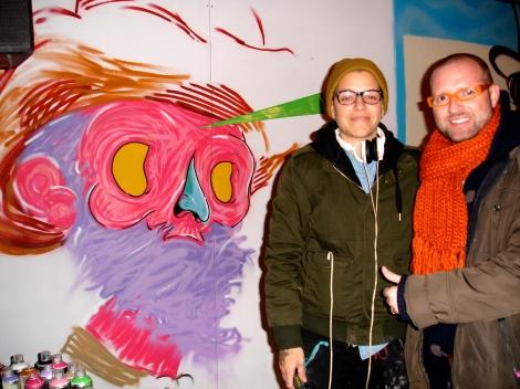 En compañía de los artistas del graffiti!!!