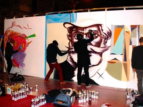 Musica convertida en arte, el graffiti tiene su lugar en Barcelona!!!