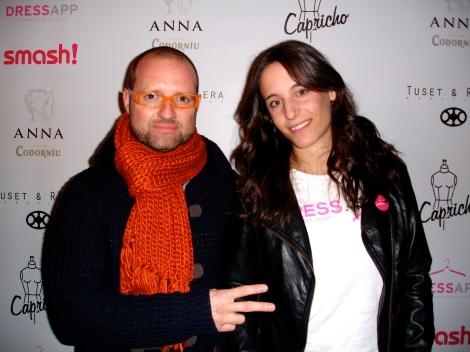 Photocall con la bloggera Ana Barri de Dressapp, una aplicación muy original!!!