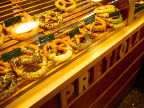 Un pretzel , receta tradicional para un paseo por las calles de Barcelona!!!