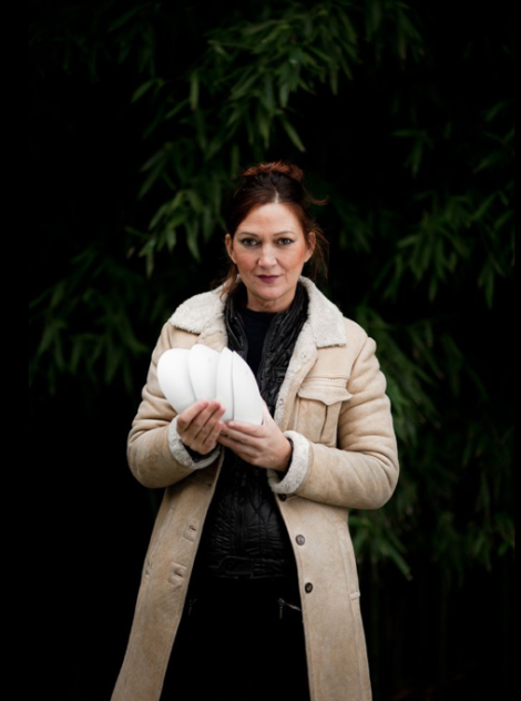 La diseñadora vasca, Ana Rorquero , artifice de esta colección tan inspiradora.