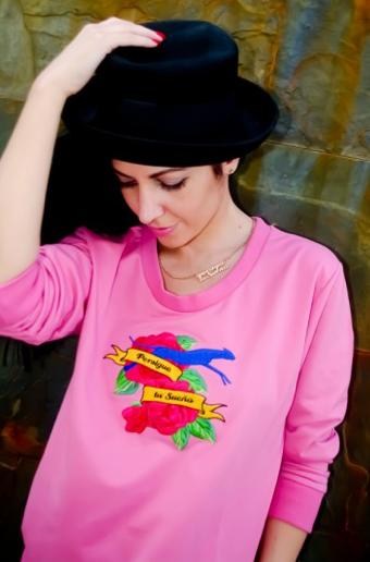 Sudadera Rosa Agudiza el Ingenio, perfecta!!!