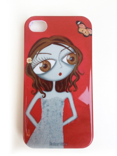 carcasa para Iphone de Esther Voltà, rojo pasional.