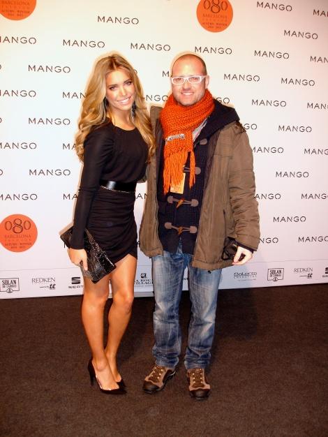 En el photocall de Mango con la guapísima Sylvie Van der Vaart.