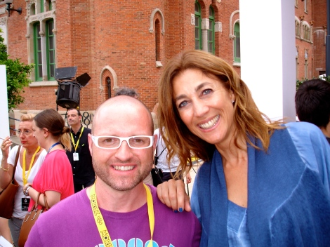 quantik y la encantadora presentadora de TV3 Helena Garcia.