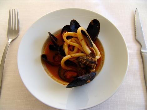 La gastronomia, sencilla pero a la vez, exquisita.