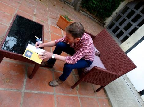 """Damián Alcolea, actor, escritor de un libro sublime """"Tocados"""" , pero sobretodo gran persona!!!"""